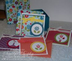 Bright Blossoms Gift Box by Sandy Murphy - Cards and Paper Crafts at Splitcoaststampers