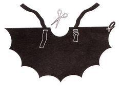 Diy child 39 s bat costume a hancock fabrics halloween - Contorno immagine di pipistrello ...
