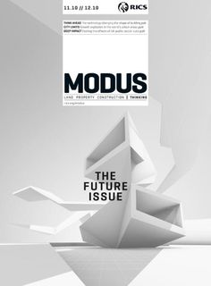 houseofmagazines | Modus (UK) | Magazine Cover: Graphic Design, Typography, Photography |