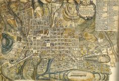 Vintage infographic Plan of San Francisco of Quito (1910)