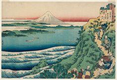 Katsushika_Hokusai - Poem by Yamabe no Akahito, from the series One Hundred Poems Explained by the Nurse (Hyakunin isshu uba ga etoki)