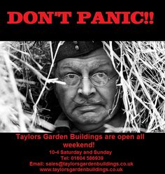 We are open all weekend! 10-4 Saturdays and Sundays!  www.taylorsgardenbuildings.co.uk