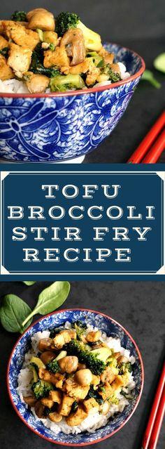 Tofu broccoli stir fry recipe with basmati rice, a scrumptious 30-minute dish, perfect as a midweek dinner. Vegan and gluten free.