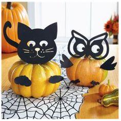 Get in the Halloween Spirit with indoor Halloween decor from Lillian Vernon. Halloween Pumpkins, Fall Halloween, Halloween Crafts, Holiday Crafts, Holiday Fun, Happy Halloween, Halloween Decorations, Pumpkin Crafts, Pumpkin Ideas