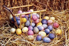 Color Easter eggs with dyes made from beets, onion skins, and blueberries for lovely, subtle decoration. Originally published as