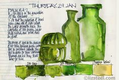 Veggie Colour: making adjustments to my watercolour palette : Liz Steel