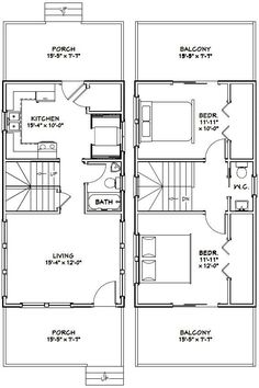 Tiny Apartment Layout 12x32 tiny house -- #12x32h1b -- 384 sq ft - excellent floor plans