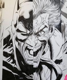 Batman/Joker by Jason Fabok Joker Comic, Batman Comic Art, Joker Art, Batman Comics, Batman Drawing, Batman Artwork, Batman Wallpaper, Joker Character, Character Art
