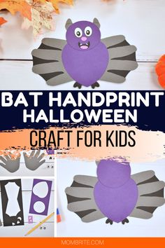 Want to make an easy bat handprint craft for Halloween? Check out this step-by-step tutorial that also has a free bat template you can use straightaway to make plenty of Halloween bat crafts!