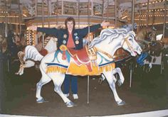 PTC #17, circa 1908, Six Flags Over Georgia, (Atlanta).  Leo Zoller, carver for this biggest carousel in the USA.  The horses are so large the legs had to be shortened so people  could climb on.
