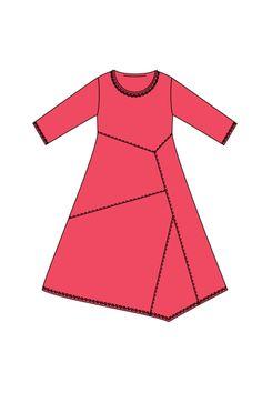 Dress Gilla, interesting way to use scrap fabric.