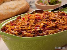 Layered Spaghetti Casserole   mrfood.com