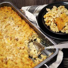 Aura-broilerimakaronilaatikko on helppo arkiherkku, myös gluteeniton Takana, Pasta Dishes, Ricotta, Macaroni And Cheese, Chili, Curry, Goodies, Food And Drink, Ethnic Recipes
