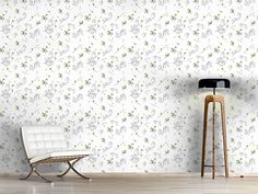 Design #Tapete Sommer Blumen Zeichnen Cottage, Rugs, Design, Home Decor, Self Adhesive Wallpaper, Drawing Flowers, Wall Papers, Summer, Nice Asses