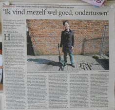 """I've had a lot of reactions on the title of this article, you can't say something like this about yourself, when you read the interview it's not that big of a statement. I was asked if I thought I was good at playing my instrument, and I said something like, """"I'm doing it for 15 years now, it would be a bit strange if I still sucked at it"""", but than again, you can't blame a journalist for wanting a good header. I felt really honored to have a big article."""