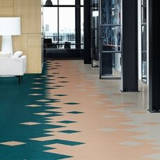 The only limitation with Marmoleum is your imagination Natural Flooring, Modern Flooring, Best Flooring, Basement Flooring, Flooring Options, Kitchen Flooring, Flooring Ideas, Linoleum Flooring, Vinyl Flooring