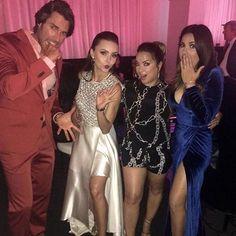 Angelique Boyer y Maite Perroni en la fiesta de los 50 mas bellos #Vico #Lupita #Rebelde #2016 #SebastianRulli #AdamariLopez