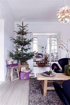 Christmas in purple tones