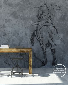 Bucephalus - Dreamlike references for this macro wall décor with sketched-out lines which emerge from a material background  of cement tones.A wallpaper that blends classic and contemporary elements for modern homes and spaces with a distinct personality. www.decolution.com #wallpaper #cartadaparati #cartedaparati #papelpintado #papierpeint #tapete #wallcovering #designityourself #DIY #wallpapershop #wallpaperonline #wallcovering #interiordesign #homedecoration #home