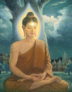 """""""When silence is prolonged over a certain period of time, it takes on new Meaning. Buddha Life, Buddha Buddhism, Buddhist Art, Buddha Artwork, Buddha Painting, Budha Art, Thai Buddha Statue, Traditional Stories, Hindu Deities"""