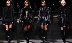 black leather if you please Gothic Mode, Back To Black, Gothic Fashion, Black Leather, Clothes, Dresses, Outfits, Vestidos, Dress