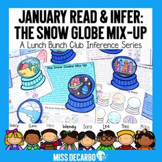 January Read and Infer: The Snow Globe Mix-Up Snow Activities, Reading Activities, Reading Passages, Reading Comprehension, Picture Snow Globe, Globe Projects, Brain Based Learning, Small Group Reading, Student Drawing