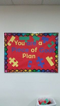 You Are A Piece Of God's Plan Bulletin Board