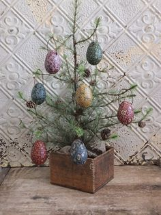 Easter Egg Tree  Ornaments Primitive Country Spring Decor Handmade