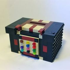 This Tzedakah Box is an addition to my growing line of LEGO® Judaica. A Tzedakah box makes an awesome gift and a fantastic addition to any home. Lego Valentines, Valentine Box, Tzedakah Box, Lego Boxes, Hebrew School, Jewish Art, Money Box, Art For Kids, Kid Art