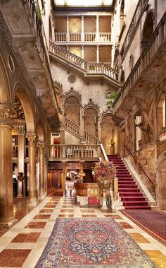 Because someday we will return to Venice, off season, and we will visit this most romantic hotel.  My HoTeL FaNtAsY the Hotel Danieli!  Check out the Stairway... Bella!