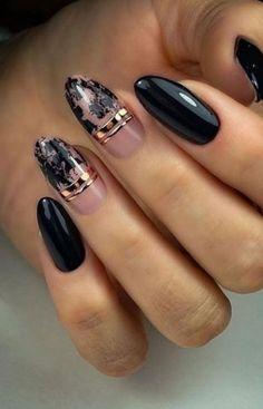 Gold Nails, Silver Roses, Nail Art, Beauty, Beleza, Nail Arts, Cosmetology, Gold Nail, Golden Nails