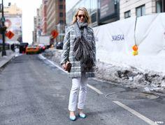 Indre Rockefeller at New York Fashion Week F/W 2014-15