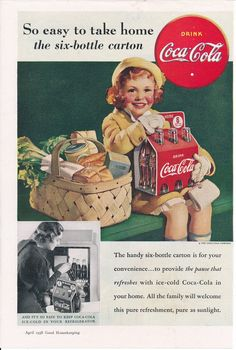 Vintage Magazine Ad for Coca-Cola from the April 1938 Good | Etsy