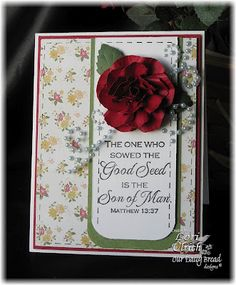 C4C146 ~ The One Who Sowed ~ by saintsrule - Cards and Paper Crafts at Splitcoaststampers