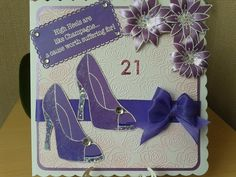 Shades of purple. Stamps by Chloe.