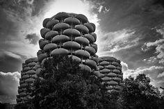 Les Choux de Créteil (The Cabbages of Creteil)- Gerard Grandval 1969 Cabbages, Architecture, Inspiration, Arquitetura, Biblical Inspiration, Cabbage, Architecture Illustrations, Collard Greens, Inspirational