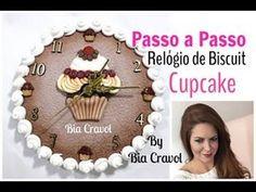 Relógio de Biscuit- Cupcake - Passo a Passo - Bia Cravol - DIY - YouTube                                                                                                                                                                                 Mais