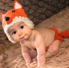 Newborn Crochet Wolf costume Outfit Hat Set Photo by Evanplus, $16.95