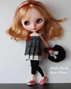 Blythe spring set with dress, leggings and handbag by juliettaexussetta on Etsy
