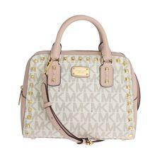 Michael kors Pink SANDRINE Leather Satchel Handbag fc7a4c892c300