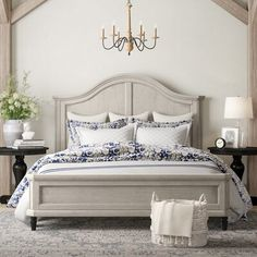Beachcrest Home Iredale Panel Bed Bedding Master Bedroom, Master Bedroom Design, Home Bedroom, Bedroom Decor, Master Room, Bedroom Furniture, Bedroom Ideas, Wall Decor, Painted Bed Frames