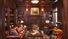 Library Paneling Ideas | Back to: 30 Classic Home Library Design Ideas Imposing Style