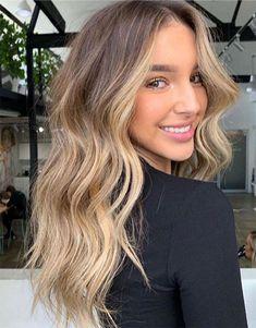 Bronde Hair, Brown Hair Balayage, Brown Blonde Hair, Hair Color Balayage, Hair Highlights, Color Highlights, Black Hair, Brunette With Blonde Balayage, Natural Blonde Balayage