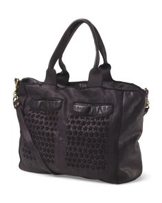 Made+In+Italy+Leather+Daisy+Perforated+Satchel
