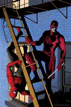demolidor e homem-aranha
