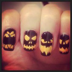 Halloween pumpkin nails  Ale lima