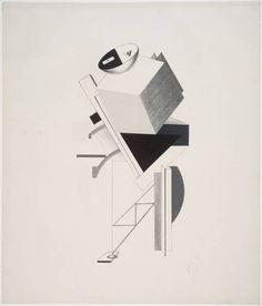 El Lissitzky, '3. Postman' 1923
