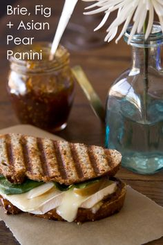 Brie, Fig and Asian Pear Panini from www.whatsgabycooking.com