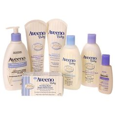 Aveeno Baby...use this stuff for skin issues.But if I have another I want to try the California Baby products(they are expensive though)