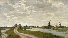 Windmills at Haaldersbroek, Zaandam - Claude Monet